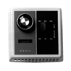 Fan Coil Thermostat<br>Heat-Off-Cool Sys. Switch<br>(50&#176;F to 90&#176;F) Product Image