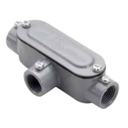 "1-1/2"" T Combination Conduit Body with Cover and Gasket Product Image"