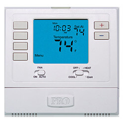 T725 5/1/1 Day Digital<br>Programmable, Multi<br>Stage Thermostat (2H/1C) Product Image