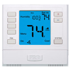 T755H Multi-Stage<br>Thermostat w/ Humidity<br>Control (2H/2C, 3H/2C) Product Image