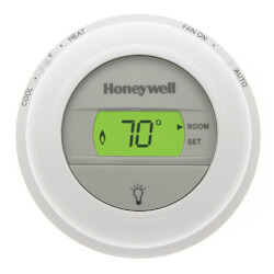 Round Non-Programmable, 1H/1C Digital Thermostat Product Image