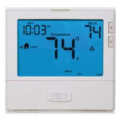 T905 Single Stage Prog.<br>Touchscreen Thermostat<br>(1H/1C) Product Image