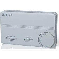 3 Spd Fan Coil Cool/Heat/Off Prog. Tstat w/ Terminal Block (White) Product Image
