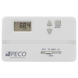T168 Modulating / Proportional Non-Prog. Fan Coil Thermostat Product Image