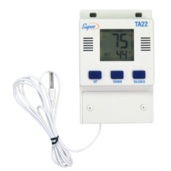 Single Set Point Temperature Alarm w/ Digital Display (-40°F to 160°F) Product Image