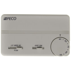 3 Speed Fan Coil On/Off Prog. Tstat w/ Terminal Block & 2 Covers (White) Product Image