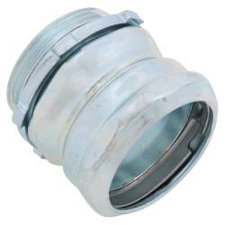 "1-1/2"" Steel EMT Compression Connector Product Image"