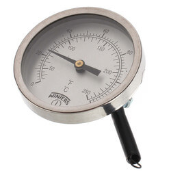 """2.5"""" Aluminum<br>Clamp-On Thermometer (30°F to 250°F) Product Image"""