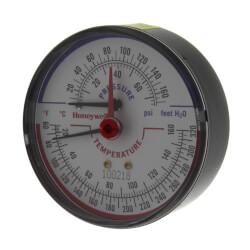 "1/4"" NPT, 3-1/8"" Face<br>Temp & Pressure Gauge (Tridicator) Product Image"