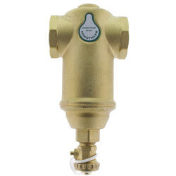 "1-1/4"" Spirotrap Brass Dirt Separator w/ rem. head (Female Thread) Product Image"