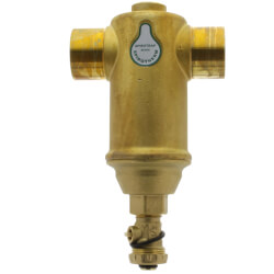 "1-1/4"" Spirotrap Drain Brass Dirt Separator with removable head (Sweat) Product Image"