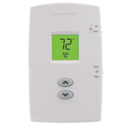 PRO 1000 Non-Programmable, 1H/1C, Vertical Thermostat Product Image