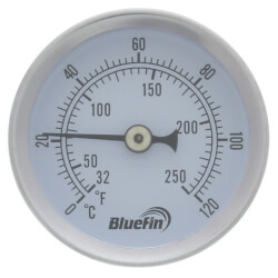 "1/2"" Sweat Connection Thermometer w/ 2""<br>Dial Size Product Image"