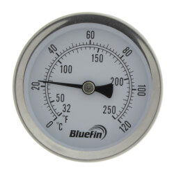 """2-1/2"""" TSW Dial Type Therm w/ 3/4"""" Sweatwell 30°F -250°F & 0°C -120°C Product Image"""