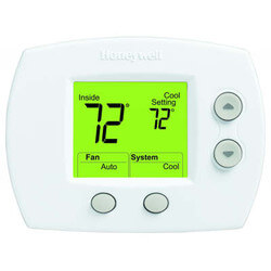 1H/1C FocusPro<br>Non-Programmable<br>Lg. Display Thermostat Product Image