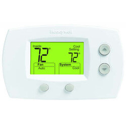 2H/2C FocusPro<br>Non-Programmable Thermostat Product Image