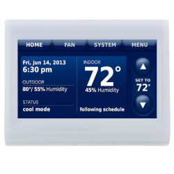 Prestige IAQ HD Thermostat (White Front/White Side) Product Image