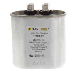 20 MFD Oval Motor Run Capacitor (440/370V) Product Image