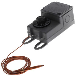 Line Volt Mechanical Tstat w/ 8' Copper Remote Bulb (-30°F - 100°F) Product Image