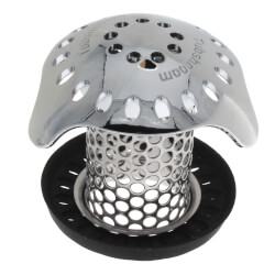"""TubShroom Ultra Tub Drain Protector, Stainless Steel (1.25""""- 2"""") Product Image"""