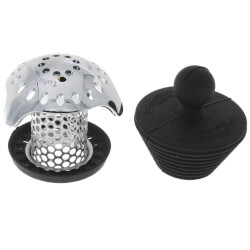 TubShroom Ultra Tub Drain Protector & StopShroom Plug (Platinum Bundle) Product Image