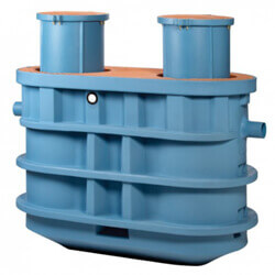 """Trapzilla Grease Interceptor, 2 x 18"""" Extension Collars, 4"""" Inlet/Outlet, 1,826 lbs Capacity (100 GPM) Product Image"""