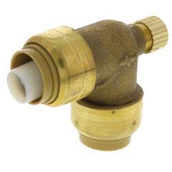 "1/2"" Sharkbite Elbow with 1/8"" NPSM Thread Drain/Vent (Lead Free) Product Image"