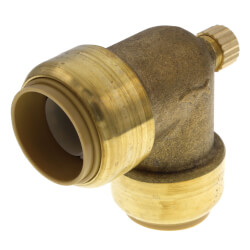 "3/4"" Sharkbite Elbow with 1/8"" NPSM Thread Drain/Vent (Lead Free) Product Image"
