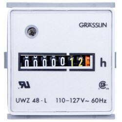 60Hz Flush Mount AC Hour Meter, Quick Connect Combination (24V) Product Image