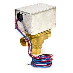 "3/4"" Sweat 3-Way Zone Valve, port A N/C<br>Bottom Inlet (120V) Product Image"