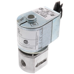 "1/4"" NPT Solenoid Pilot Gas Valve Product Image"