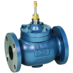 "2-1/2"" Two-way Flanged Globe Valve, Water or Glycol (63 Cv) Product Image"