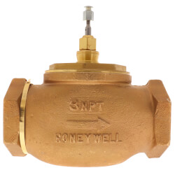 """3"""" Two-way Female NPT Globe Valve, Water<br>Steam or Glycol (100 Cv) Product Image"""