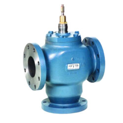 "6"" Flanged Three-Way Diverting Valve (360 Cv) Product Image"