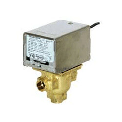 "1/2"" Sweat Connection 3 Way Zone Valve, port A normally closed, w/2.5 CV  BYPASS PORT (24v) Product Image"