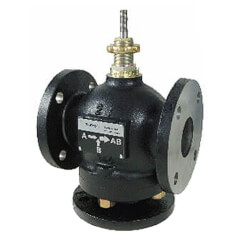 """2-1/2"""" Flanged Bronze<br>3-Way Mixing Valve (74 cv) Product Image"""