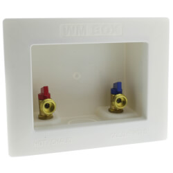 "1/2"" Sweat Washing Machine Outlet Box Product Image"
