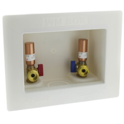 "1/2"" Sweat Washing Machine Outlet Box w/ Water Hammer Arrestors Product Image"