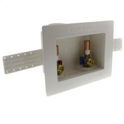 "1/2"" PEX Crimp Washing Machine Outlet Box w/ Water Hammer Arrestors Product Image"