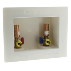 "1/2"" PEX Crimp Washing Machine Outlet Box w/ Water Hammer Arrestors Product Image"