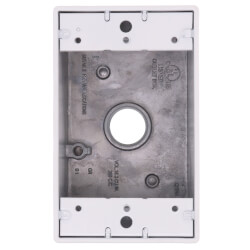 "Single Gang 1/2"" 3 Holes Weather Proof Box (White) Product Image"