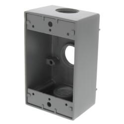 "Single Gang 3/4"" 3 Holes Weather Proof Box (Grey) Product Image"