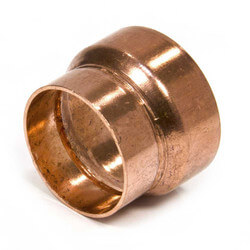 """1-1/4"""" Copper<br>DWV Coupling Product Image"""