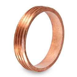 "1-1/4"" DWV Cast Brass<br>Trap Marvel Thread Piece (CxM) Product Image"