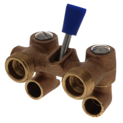 Washing Machine Valve, Solder End Bronze w/ Lever Product Image