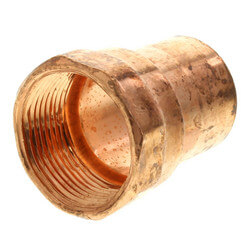 """1-1/4"""" Copper x Female Adapter Product Image"""