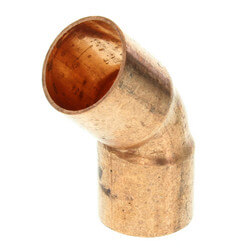 "5/8"" Copper 45° Elbow Product Image"