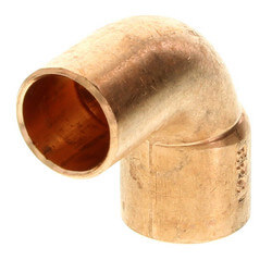"""3/8"""" FTG x Copper<br>90° Street Elbow Product Image"""
