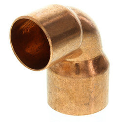 "1-1/4"" x 1"" Copper 90° Elbow Product Image"
