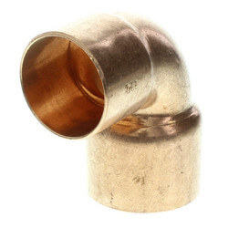 "3"" x 2-1/2"" Copper 90° Elbow Product Image"